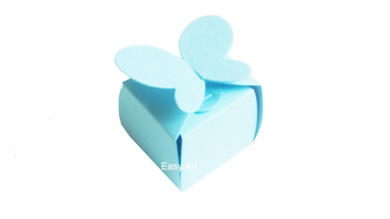 Caixinha para Bombons / Trufas - Azul Claro