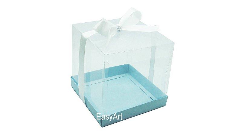 Caixinhas para Mini Bolos 8x8x8 - Azul Claro