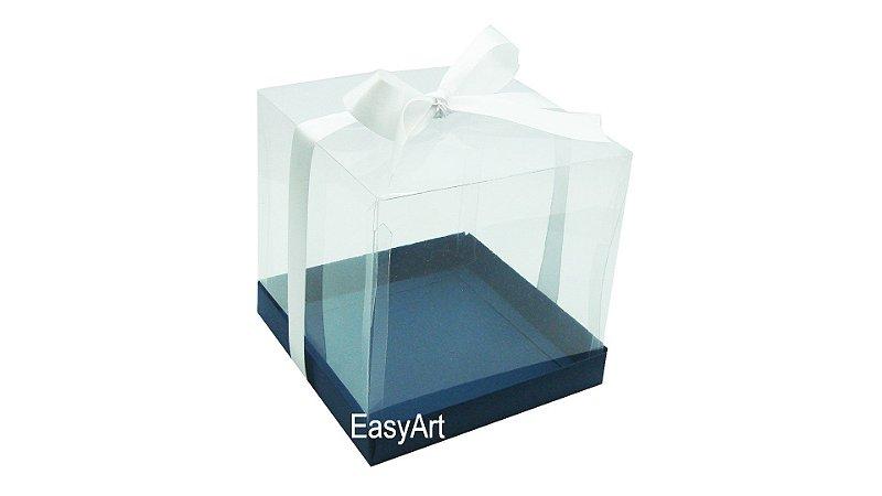 Caixinhas para Mini Bolos 8x8x8 - Azul Marinho