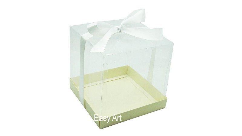 Caixinhas para Mini Bolos 8x8x8 - Marfim