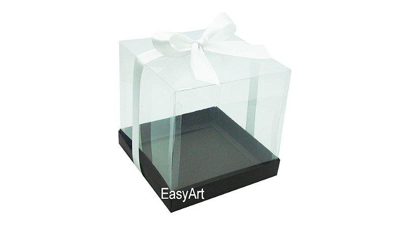 Caixinhas para Mini Bolos 8x8x8 - Marrom Chocolate