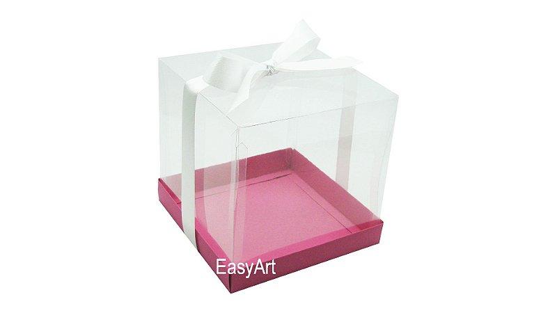 Caixinhas para Mini Bolos 8x8x8 - Pink