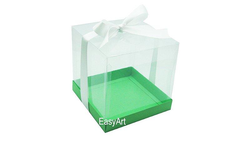 Caixinhas para Mini Bolos 8x8x8 - Verde Pistache