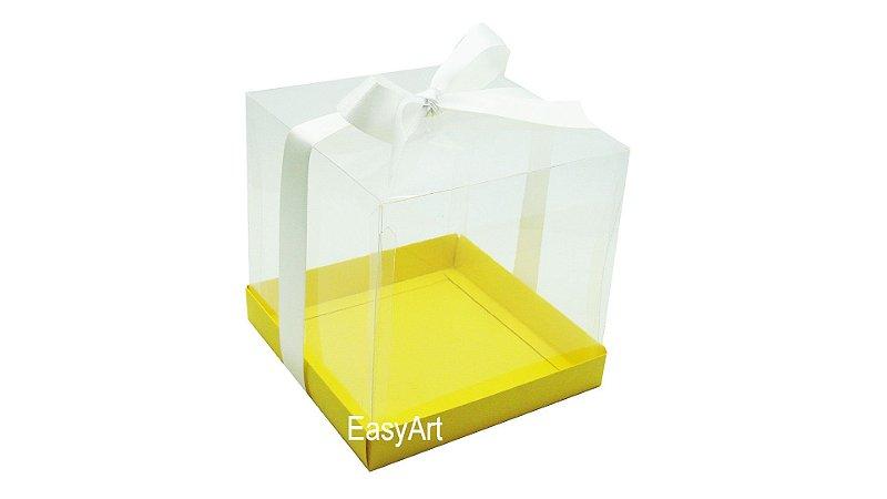 Caixinhas para Mini Bolos 9x9x9 - Amarelo