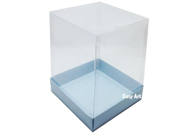 Caixa para Mini Bolo / Panetones - Azul Claro