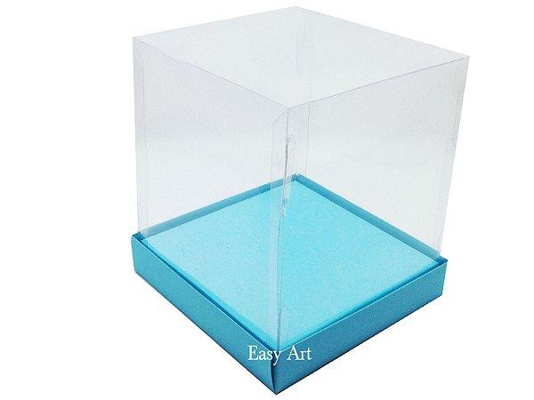 Caixinhas para Mini Bolos / Mini Panetones com Berço - Azul Tiffany