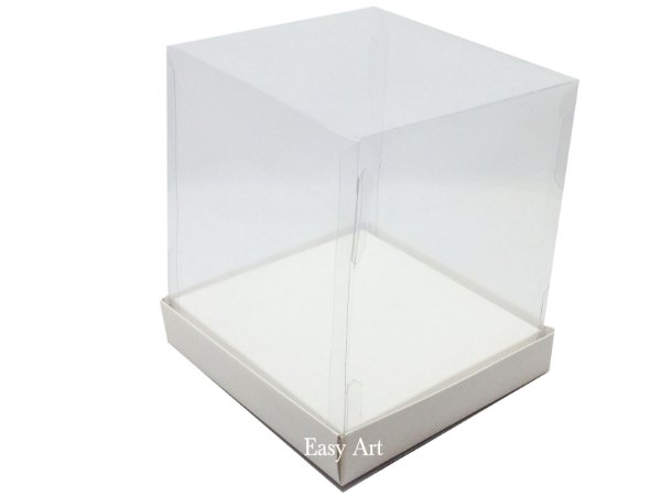 Caixinhas para Mini Bolos / Mini Panetones com Berço 10x10x15 - Branco