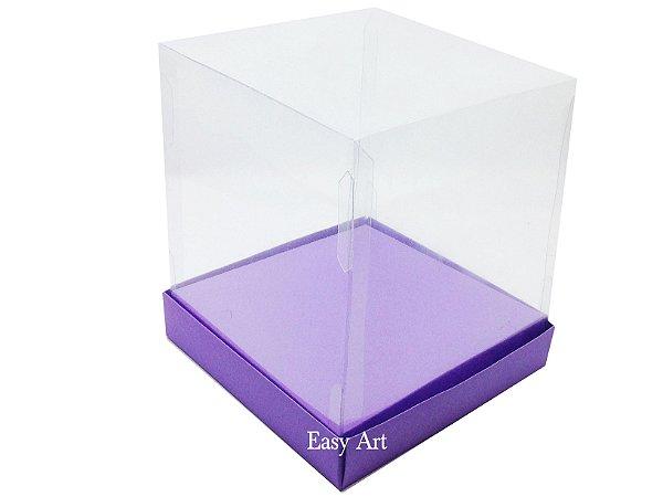 Caixinhas para Mini Bolos / Mini Panetones com Berço - Lilás