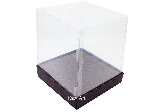 Caixinhas para Mini Bolos / Mini Panetones com Berço - Marrom Chocolate