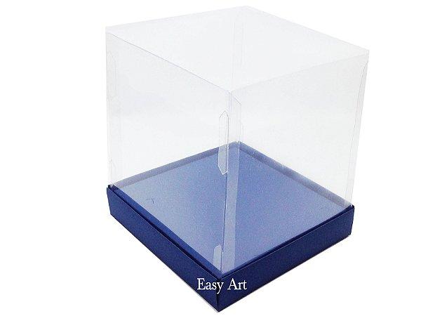 Caixinhas para Mini Bolos / Mini Panetones com Berço - Azul Marinho