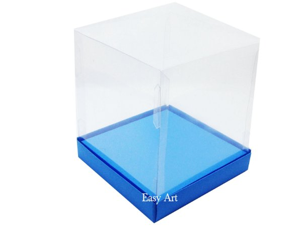 Caixinhas para Mini Bolos / Mini Panetones com Berço - Azul Turquesa
