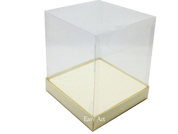 Caixinhas para Mini Bolos / Mini Panetones com Berço - Marfim