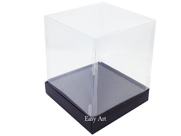 Caixinhas para Mini Bolos / Mini Panetones com Berço - Preto