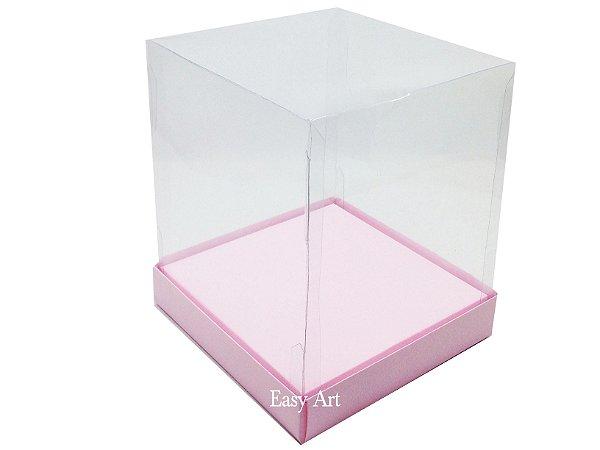 Caixinhas para Mini Bolos / Mini Panetones com Berço - Rosa Claro