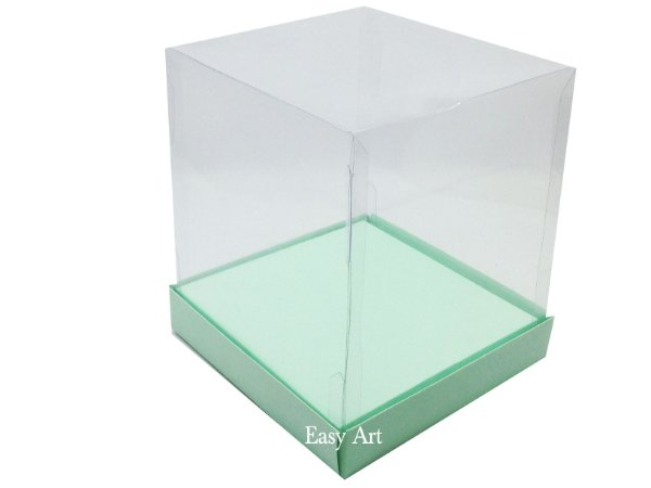 Caixinhas para Mini Bolos / Mini Panetones com Berço - Verde Claro