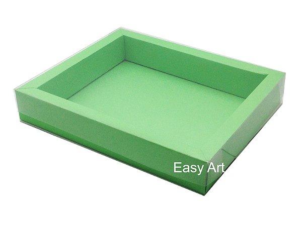 Caixas para 12 Macarons Deitados / Borda Larga - Verde Pistache