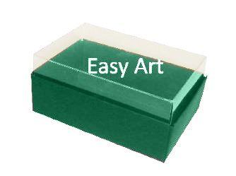 Caixas para 06 Mini Doces - Verde Bandeira
