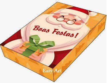 Caixa para 12 Brigadeiros com Berço - Boas Festas Noel