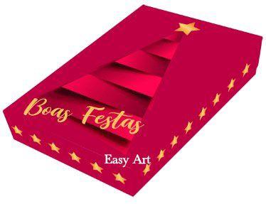 Caixa para 12 Brigadeiros com Berço - Árvore e Estrela