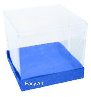 Caixinhas para Mini Bolos - Azul Turquesa