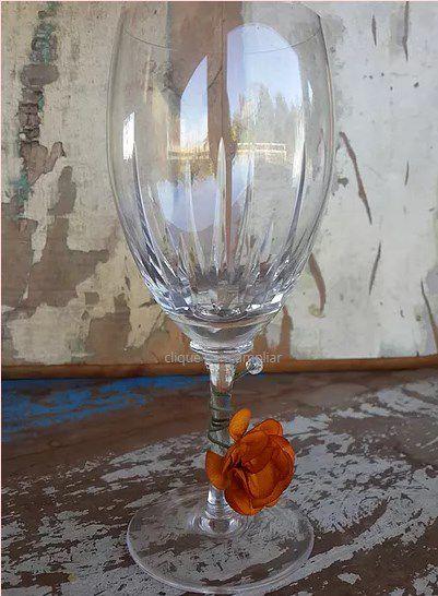 Marcadores de Taça Flor em Tecido - Mini Dália / Pct com 24 Unidades