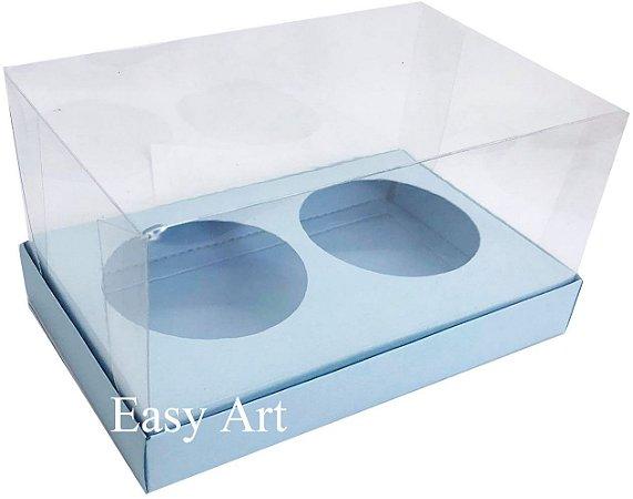Caixas para 02 Mini Panetones - Azul Claro
