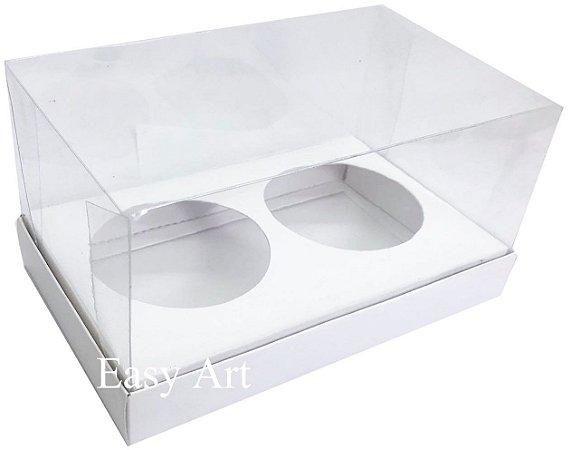 Caixas para 02 Mini Panetones - Branco