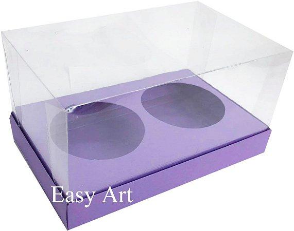 Caixas para 02 Mini Panetones - Lilás