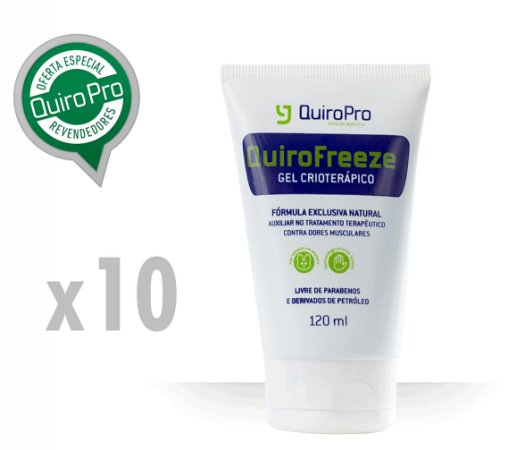 Kit com 10 Unidades de Quirofreeze - Gel Crioterápico 120ml (M)