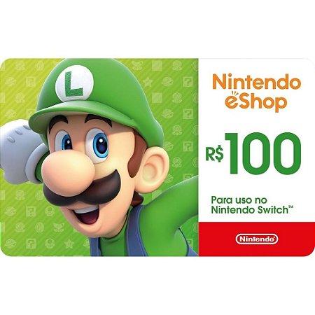 Cartão Presente Nintendo eShop Online