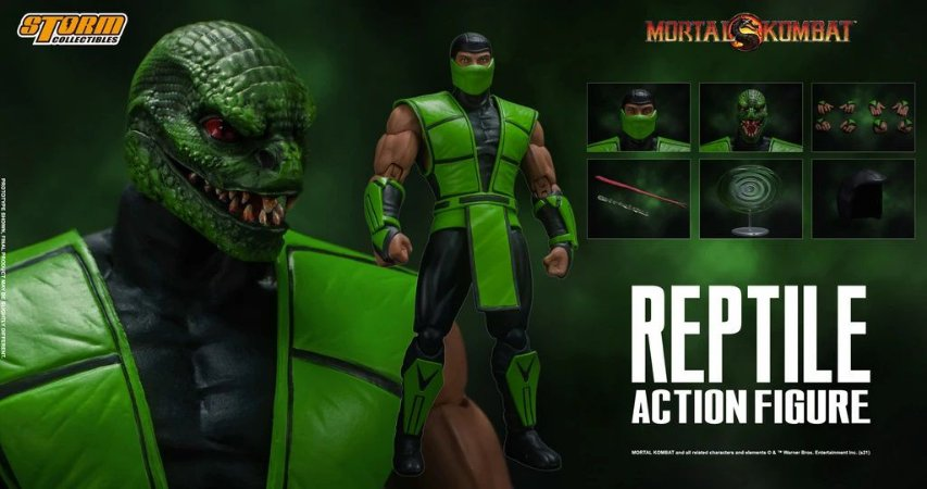Reptile Action Figure Mortal Kombat Storm Collectibles