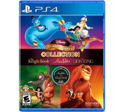 Disney Classic Games Collection: The Jungle Book, Aladdin and the Lion King PS4 (US)