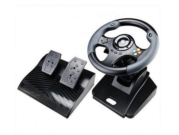 Volante Knup Dual Shock com pedais KP5816 para Xbox One