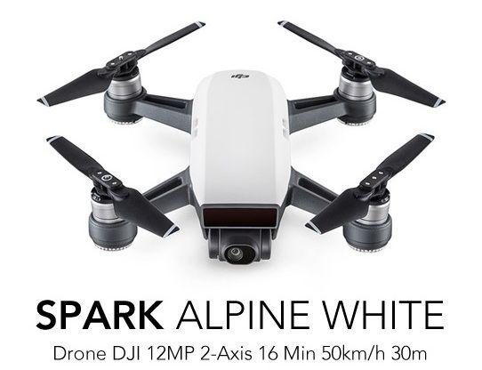 Drone DJI Spark Alpine Branco Homologado Pela Anatel