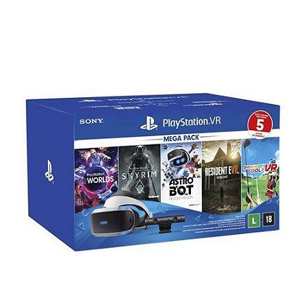 Playstation VR PS4 Headset de Realidade Virtual Bundle com Câmera - Sony