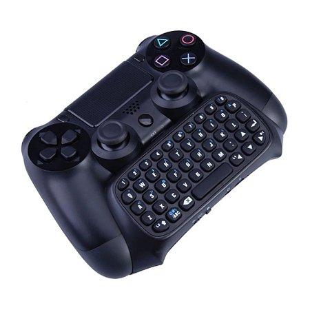 Mini Teclado Para Controle PS4 Sem Fio Com P2 Para Chat