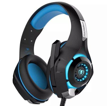 Headset Gaming Portátil 3d Estéreo 3,5 Mm Ps4 Xbox One Pc (Azul)