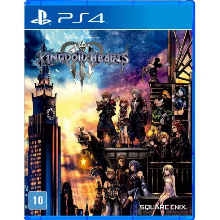Kingdom Hearts III PS4 Com Chaveiro