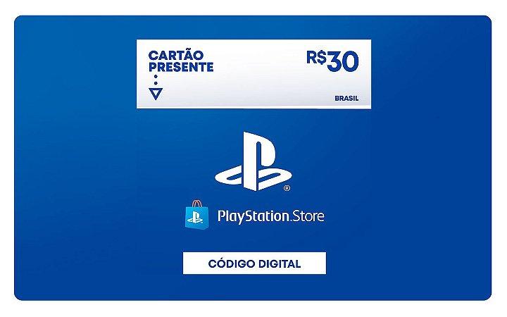 Cartão Presente PSN Plus Playstation Store