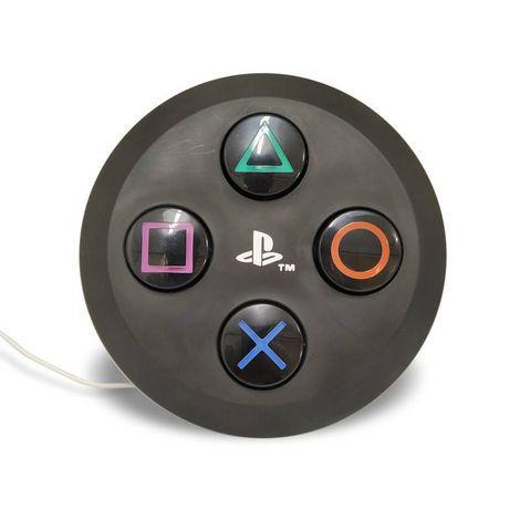 Luminária Abajur Controle PlayStation Preta