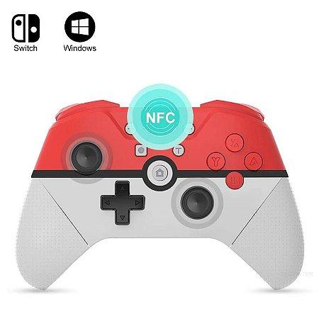 Controle Pokébola Bluetooth Sem Fio NFC Para NIntendo Switch PC