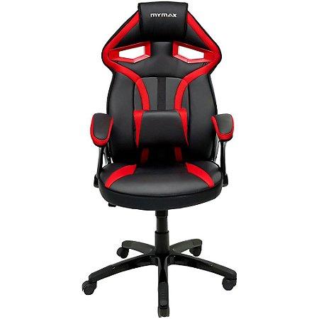 Cadeira Gamer MX1 Giratoria Preto Vermelho Mymax
