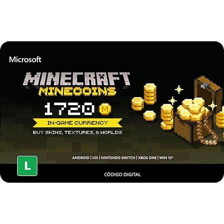 Cartão Presente Minecraft Minecoins