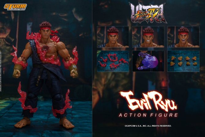 Evil Ryu Action Figure Street Fighter IV Ultra Storm Collectibles