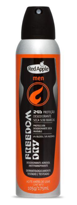 Desodorante aerosol masculino Red Apple - Men Freedom - 175ml