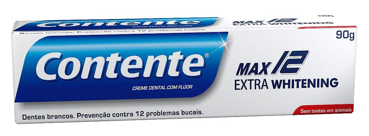Pasta de dente vegana Contente Max 12 Extra Whitening - 90g