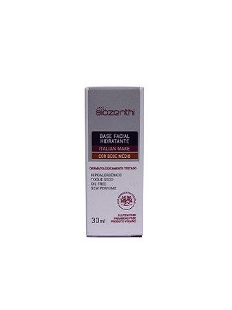 Base Facial Hidratante Biozenthi - Hipoalergênica - Bege Médio - 30ml