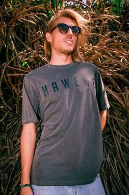 Camiseta Hawewe Masculina Surf Estonada Cinza