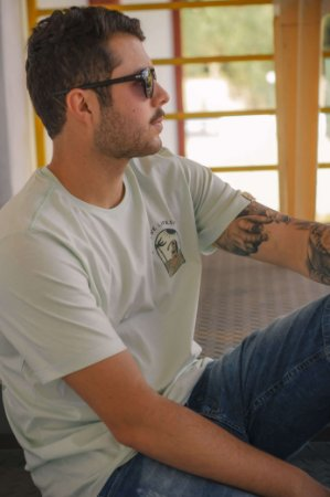 Camiseta Hawewe Masculina Sunbathe Mint