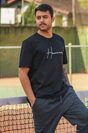 Camiseta Hawewe Masculina Letter Preta